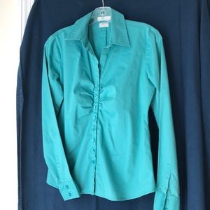 Ladies jade green shirt M